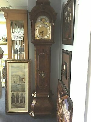 Grandfather Clock Colonial Of Zeeland Co. #4130 Burl Wood Orlando Area Pick Up!