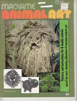 MACRAME ANIMAL ART PATTERN BOOK - 8 Projects - SEE PHOTOS