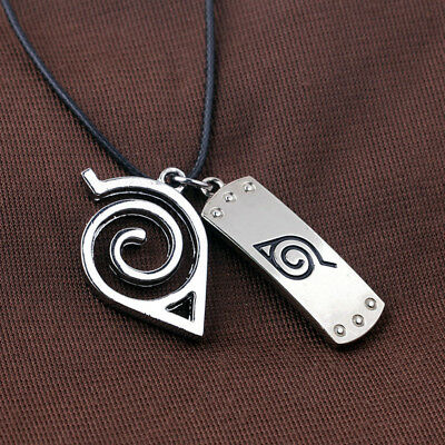 Naruto Wooden Leaves Ninja Village Logo Necklace Pendant Cosplay Jewelry Gift