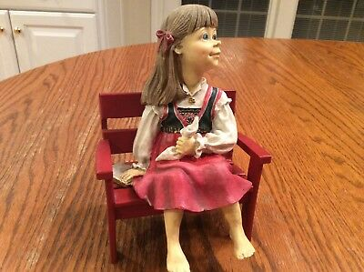 Candy Designs Red Bench With Girl(No Tag)