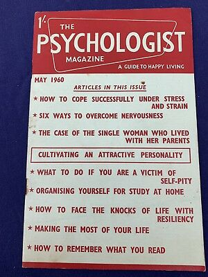 The Psychologist Magazine May 1960 Issue, vintage