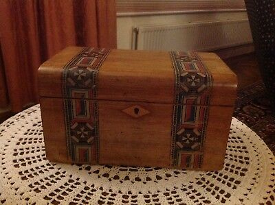 PAPER  PARQUETRY SEWING  BOX 1901 Longparish School prize Caroline White