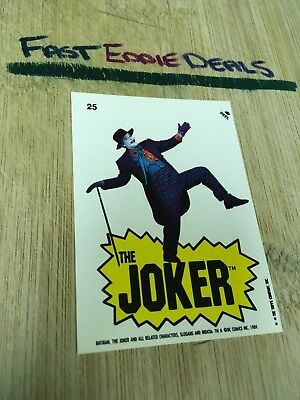 Topps 1989 Batman The Movie Bubblegum Sticker Card 25 Jack Nicholson Joker