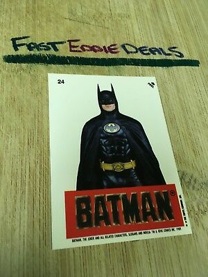 Topps 1989 Batman The Movie Bubblegum Sticker Card 24 Michael Keaton Excellent