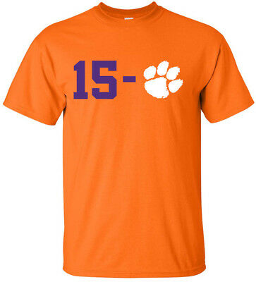 Clemson Tigers 2018 2019 National Champions 15-0 T-Shirt