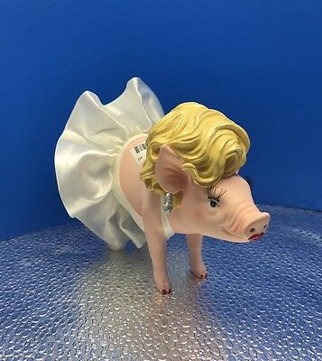"New This Little Piggy ""Ham It Up Pig"" Resin Figurine Marilyn Monroe By Westland"