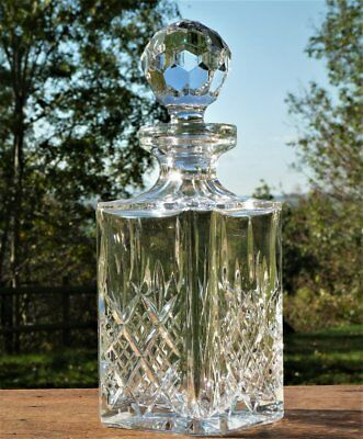 Heavy Quality Crystal Glass Decanter Tantalus Whisky Sherry Driinks table