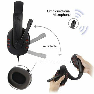 3.5mm Wired Gaming Headset Headphone Surround For PS4 Xbox One Mac Laptop PC