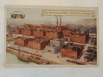 0307----1920 HJ Heinz Co postcard Pittsburgh -- with racist correspondence