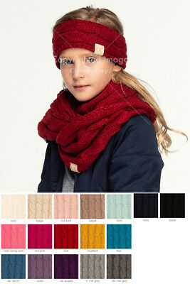 ScarvesMe C.C 2-9 years Kids Children Boy Girl Cable Knit Soft and Warm Scarf