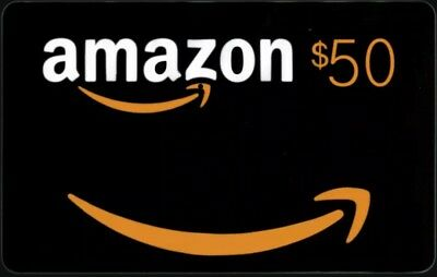 $50 NEW AMAZON Gift Card Ships FAST! Guaranteed by Paypal w/ NO Worries