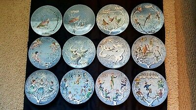 Haviland Limoges 12 Days of Christmas Collector Plates COMPLETE SET Mint Conditi