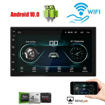 """Android 8.1 2Din Car Stereo Radio GPS WIFI MP5 Player 1080P Mirror Link AM/FM 7"""""""