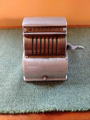 """Sturdy Metal """"Precise"""" Adding Machine Chicago Vintage Collectible 1940's"""