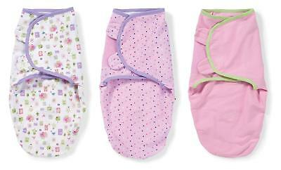 Summer Infant 3 pk Swaddle Me Baby Swaddling Blanket wrap 7 - 14 lbs