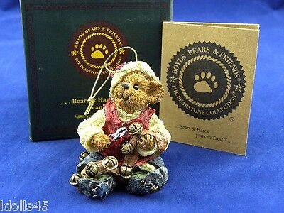 Boyd's Bears Bearstones Collection Jingles Ring in the Cheer Ornament #25750
