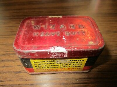 Vintage Western Auto Stores Wizard Contact Points Tin