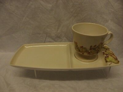 Carlton Ware Retro Cup and Plate wwith Autumn Leaves Pattern.
