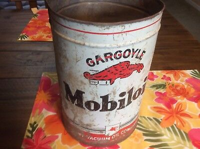 Mobiloil Gargoyle 1 Gallon Empty Tin Can - Mobil