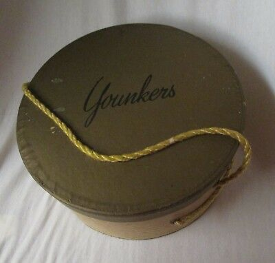 vintage ladies cardboard hat box (only) from now defunct YOUNKERS store