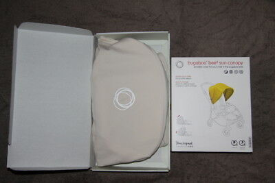 Brand New Latest Bugaboo Bee3 Bee Plus Bee5 Sun Canopy Hood Extendable Off White