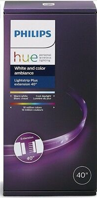"""Philips Hue White and Color Ambiance 800268 LIGHTSTRIP Plus Extension 40"""""""