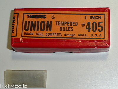 """VTG Union 1"""" Tempered Rule #405 Machinist Tool NOS USA Pre Millers Falls Scarce!"""