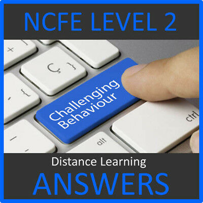 Ncfe Cahce Level 2 Certificate In Behaviour That Challenges Answers Help