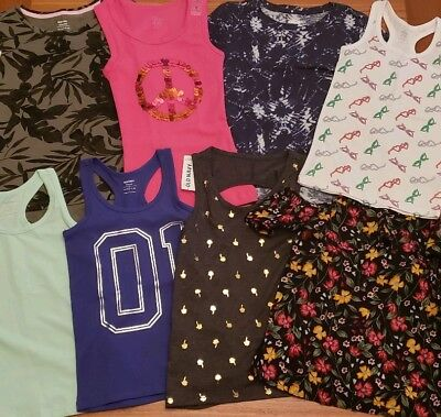 NEW Old Navy Girls SIZE 5 Summer Clothing Lot 8 PIECES Tees Tanks #16-275-19