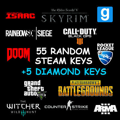 55x Random Steam Key + 5 DIAMOND Keys / Value up to 165$ 🔥