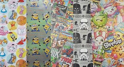 Character Wrapping Paper Sheets (Disney, Toy Story 4, Harry Potter, Marvel)