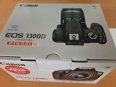 Canon EOS 1300D 18.7MP Digital SLR Camera Boxed - Black (Body Only)