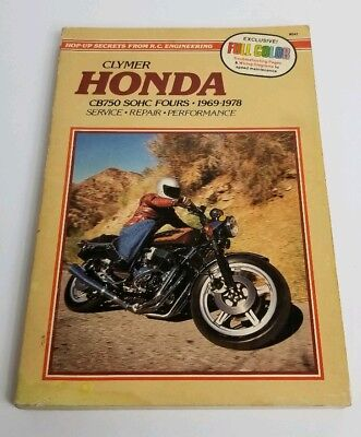 1969 -1978 honda cb750 cb 750 service manual clymer m341 color wiring  diagrams