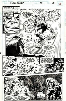 Silver Surfer #98 Page 13 Original Art Splash SS & Nova Vs Champion