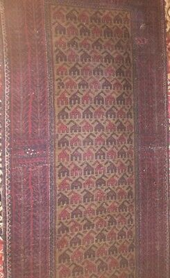 Stunning Antique Persian / Kazak Rug 2.5 ftx 5ft Hand knotted
