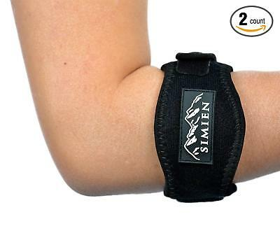 SIMIEN Tennis Elbow Brace (2 pack) - Pain Relief for Tennis & Golfer's Elbow