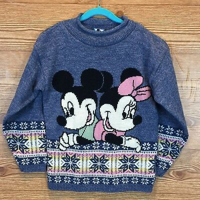 VINTAGE Disney Mickey And Minnie  Mouse Sweater
