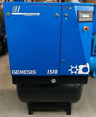ABAC Genesis 1510 Receiver Mounted Rotary Screw Compressor, With Dryer! 68Cfm!