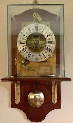 Rare THWAITES AND REED Ltd.1870's Antique FUSEE Pendulum 8-Day Wall Clock