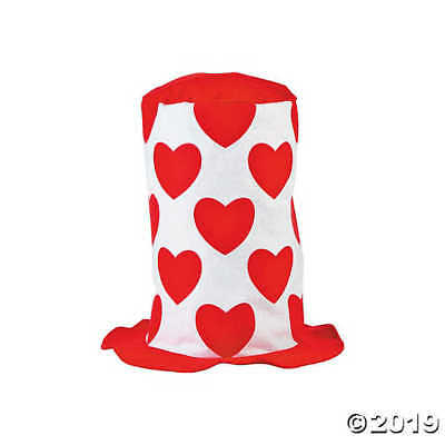 Valentine's Day Stovepipe Hat 12 inches by 24 inches circular