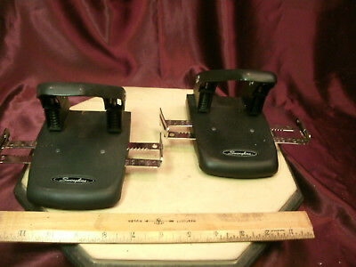 (2) black Swingline double centering 2-Hole Punch #74200-free ship