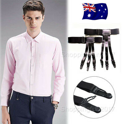 Men Shirt Stays Holder Garters Suspenders Military Uniform Non-slip Locking OZ