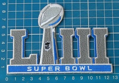 2019 Superbowl LIII New England Patriots Champions NFL FOOTBALL Patch embroid