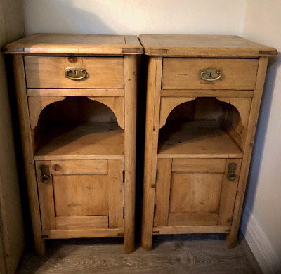 Antique Pine Bedside Tables - Matching Pair - San Anselmo, CA