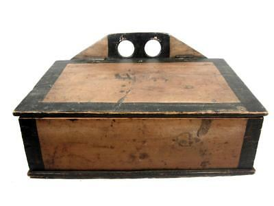 Antique 19thC LAP DESK OR WALL BOX AAFA ORIG PAINT Primitive/ Folk Art