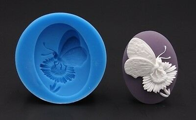 3D Butterfly Silicone Cameo mold