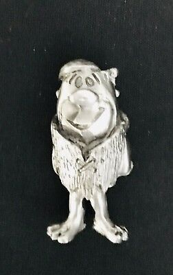 Pewter BARNEY The Flintstones Fred Dino Bam Bam Peebles Silver Metal Figurine