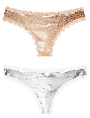84f5585b1e Victoria s Secret Dream Angels Shine   Lace Thong Panty L or XL ~Pick Sz