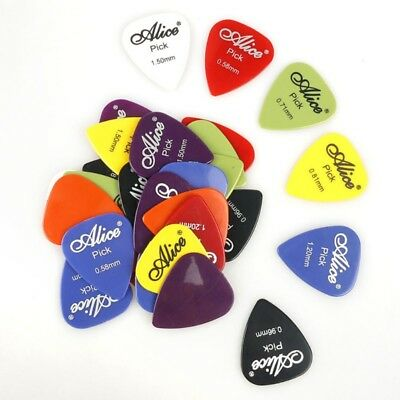 100Pcs Electric Guitar Bass' Acoustic Music Pick Plectrum Assorted Thickness AU