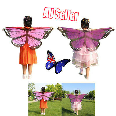 Scarf Kid's Butterfly Wings Print Shawl Girl Boy Clothes Accessory Costume VW